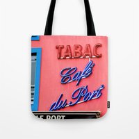 Café du Port Tote Bag