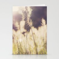 Golden Grass Stationery Cards