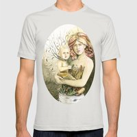 Mother Earth to her child Mens Fitted Tee Silver SMALL