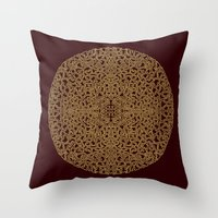 Puzzled (Moroccan Mandal… Throw Pillow
