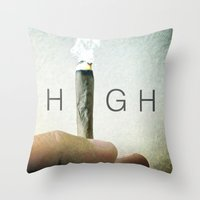 HIGH Throw Pillow