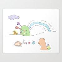 Funland 4 Art Print