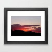 Sunset  - JUSTART © Framed Art Print