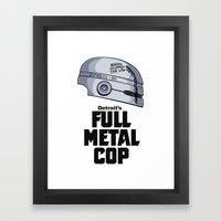 Full Metal Cop Framed Art Print
