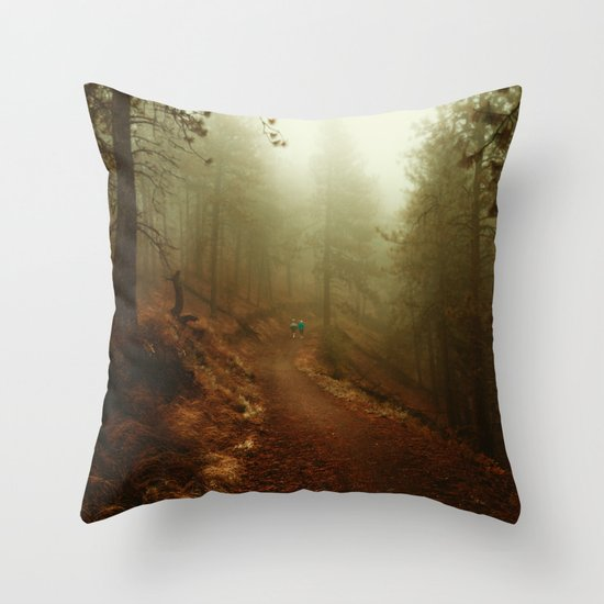 Autumn in Ponderosa Pines Forest Throw Pillow