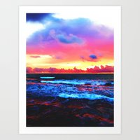 Scenic Shoreline Sunrise Art Print