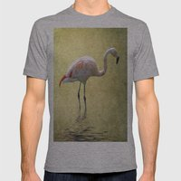 Flamingo Mens Fitted Tee Athletic Grey SMALL
