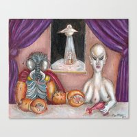 The Alien Ambassadors Canvas Print