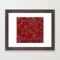 Red Buttons Framed Art Print