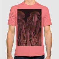 Magic Mushrooms Mens Fitted Tee Pomegranate SMALL