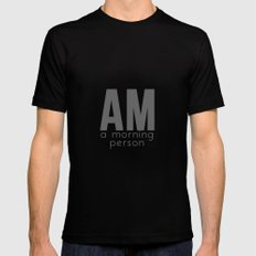 A Morning Person Black SMALL Mens Fitted Tee