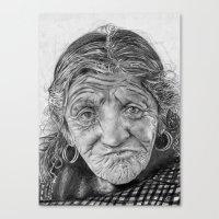 Spiderweb Traditional Portrait Print Canvas Print