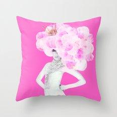 Cotton Candy Queen Throw Pillow