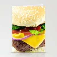 Cheeseburger Stationery Cards
