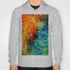 Abstract painting orange blue Hoody