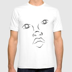 The face White SMALL Mens Fitted Tee