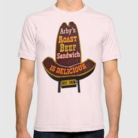 Arby's Americana Mens Fitted Tee Light Pink SMALL