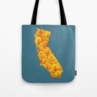 California in Flowers Tote Bag
