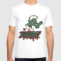 Zmurf Mens Fitted Tee White SMALL