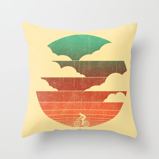 Go West (cycling edition) Throw Pillow