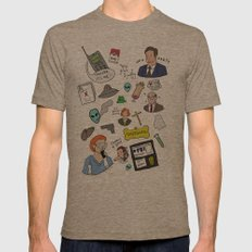 The X-Files Mens Fitted Tee Tri-Coffee SMALL