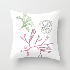 Seaweed and Lotus Root Throw Pillow