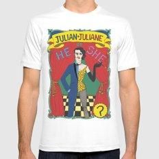 Julian/Julianne White SMALL Mens Fitted Tee