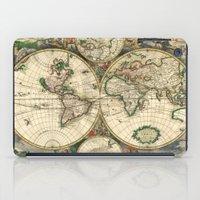 Old Map Of World Hemisph… iPad Case
