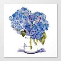 Hydrangea painting Canvas Print