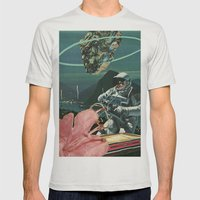 Midnight Ascent Mens Fitted Tee Silver SMALL