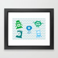 MONSTERS! Framed Art Print