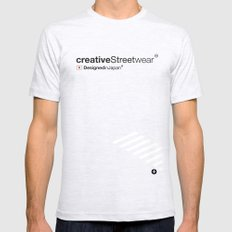 WhiteStripes SMALL Ash Grey Mens Fitted Tee