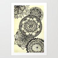 Mandala Cascade Art Print