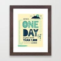 3/52: Psalm 84:10 print Framed Art Print