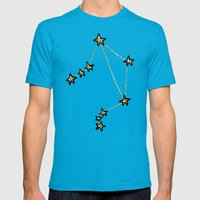 Libra x Astrology x Zodiac Mens Fitted Tee Teal SMALL