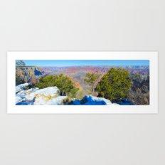 Snow Grand Canyon South Rim Panorama Art Print