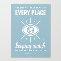 Proverbs 15:3 Canvas Print