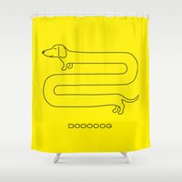 Dooooog Shower Curtain
