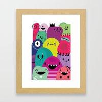 Pile of awesome Framed Art Print