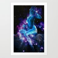 Art Print featuring SPACE by PureVintageLove