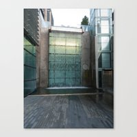 Modern Waterfall In It's Space Canvas Print