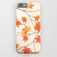 iPhone & iPod Case featuring Autumn Leaves are like Flowers by Crystal Chan