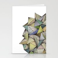 Green Spikes Stationery Cards