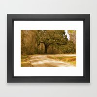 Old Dirt Road Framed Art Print