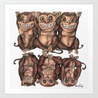 Emancipated Monkeys  Art Print