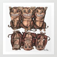 Emancipated Monkeys  Art Print