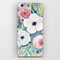 White Anemone Floral iPhone & iPod Skin