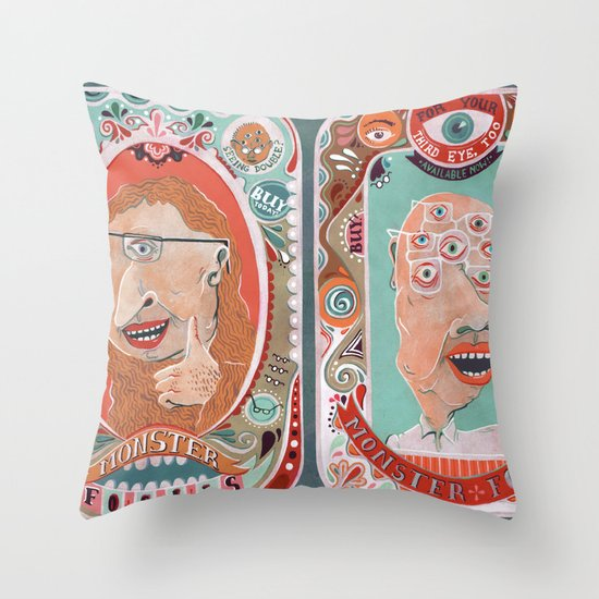 Monster Focals Throw Pillow