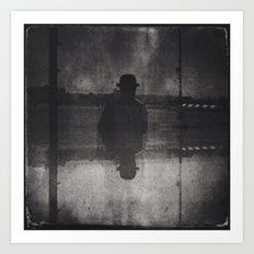 Magritte time 3 Art Print