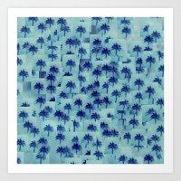 Palm party Art Print